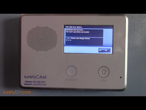 How to Install an Alarm.com Image Sensor and Learn it into a 2GIG Go!Control Panel