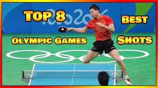Top 8 Best Table Tennis Shots in Olympic Games History [HD]