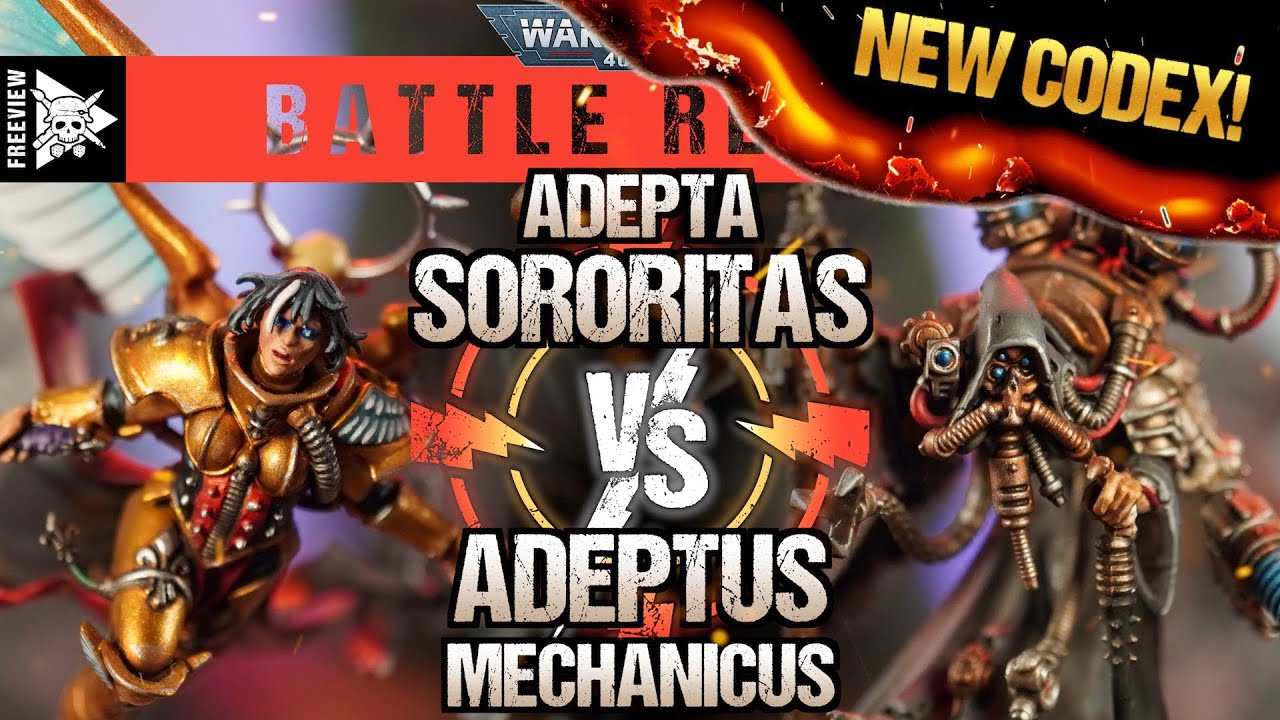 *NEW CODEX* Adepta Sororitas VS Adeptus Mechanicus 2000pts | Warhammer 40,000 Battle Report