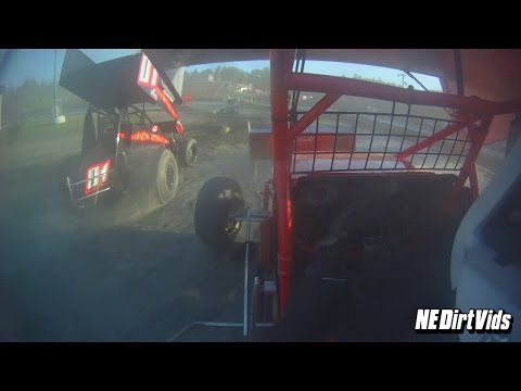 Dan Douville In-Car | Sprint Cars of New England at Bear Ridge Speedway 5-23-2015