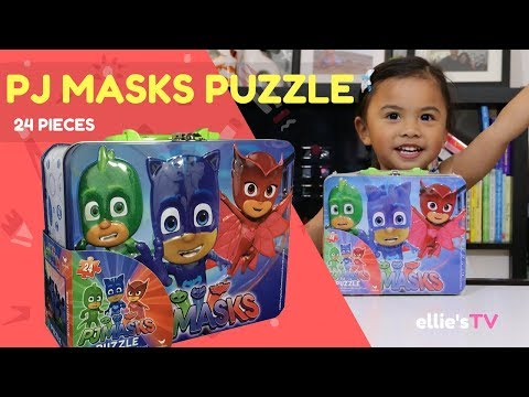 PJ Masks Puzzle Tin Lunch Box 24 Pieces  (Toy Videos For Children)