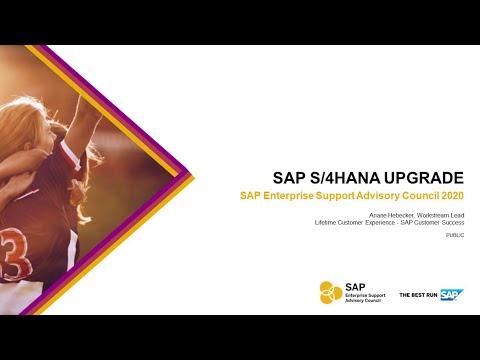 Overview: SAP S/4HANA Upgrade   ESAC 2020