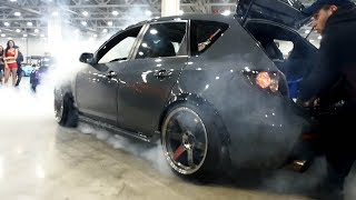 Mazda 3 MPS Burnout  -  Moscow Tuning Show