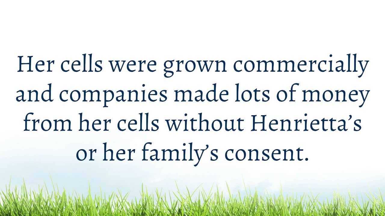 the immortal life of henrietta lacks 4 essay Ethical issues - the cells of henrietta lacks 4 pages 926 words november 2014 saved essays after reading the immortal life of henrietta lacks.