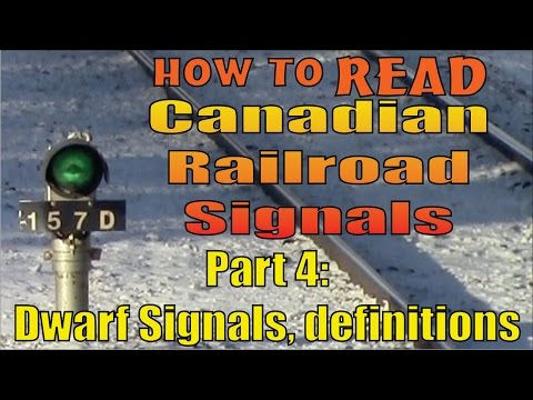 Part 4 foamer's guide to reading railroad signals: dwarf signals