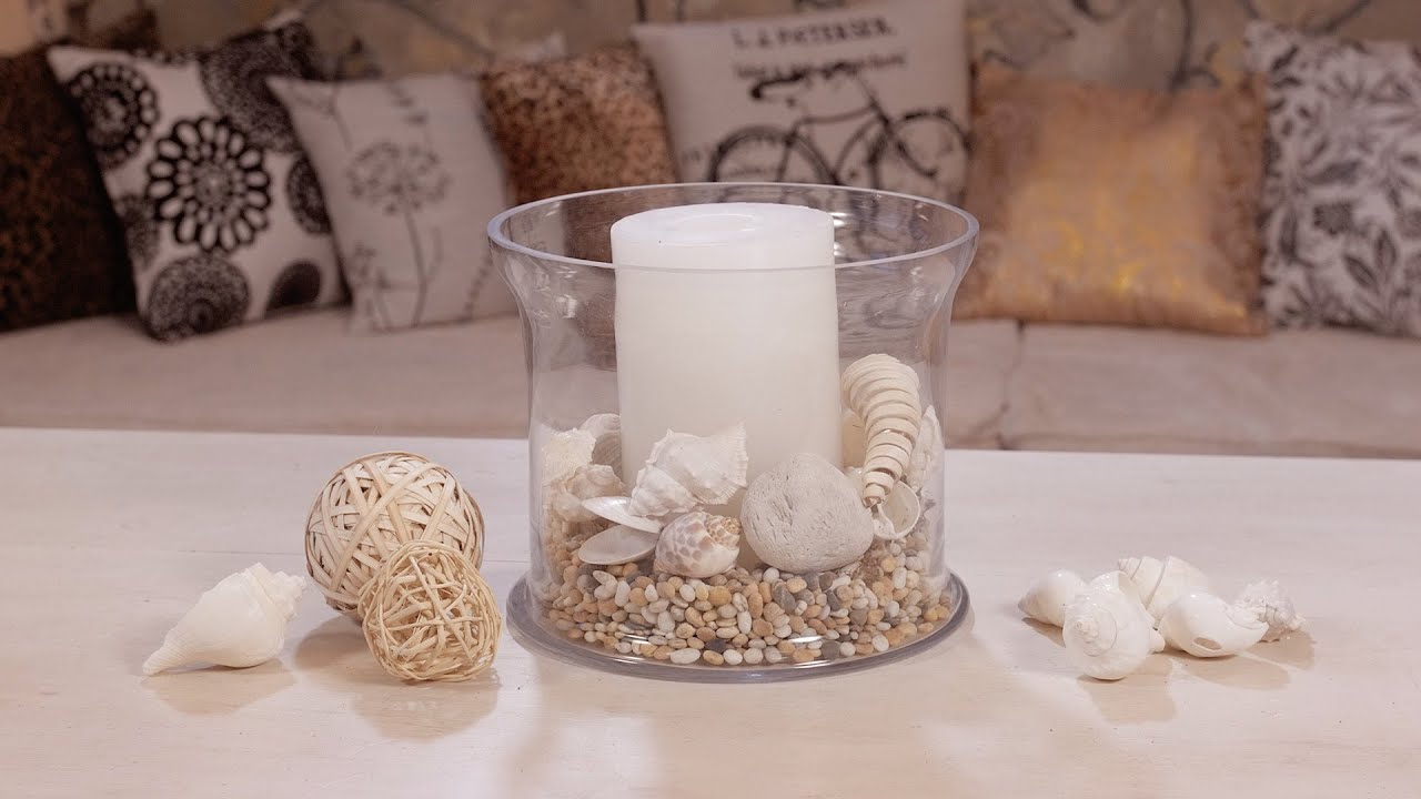Beach themed seashell table candle idea youtube reviewsmspy