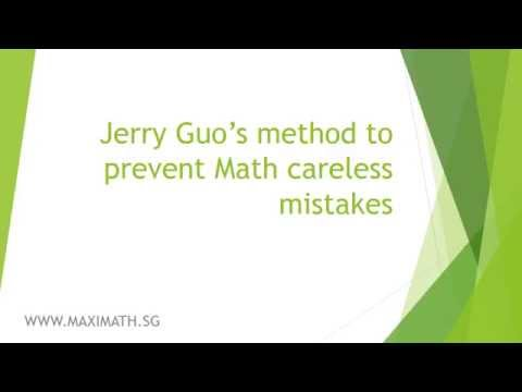 How to avoid making math careless mistakes