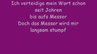 Es tut wieder weh-Jennifer Rostock (Lyrics)