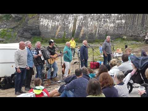 Singing After The Last Day Of Filming Of The Fisherman's Friends Film
