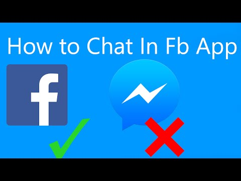 How To Chat In Facebook App Without Messenger! No Root
