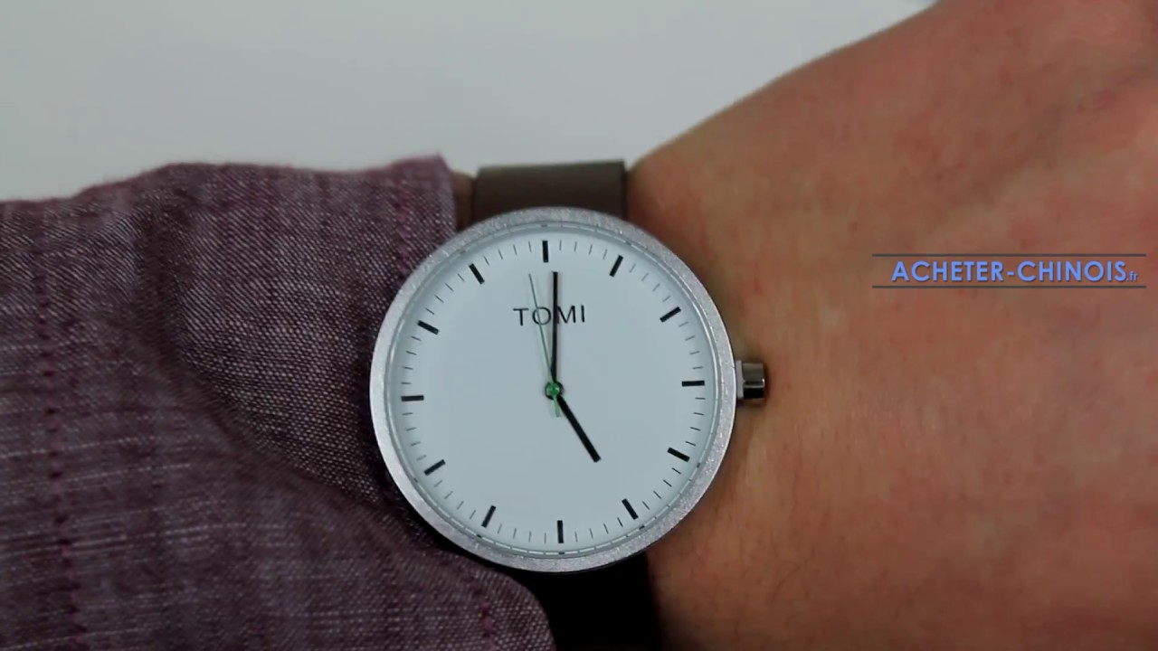 Populaire Montre de marque TOMI de chez Aliexpress - Unboxing & Review - YouTube CJ27