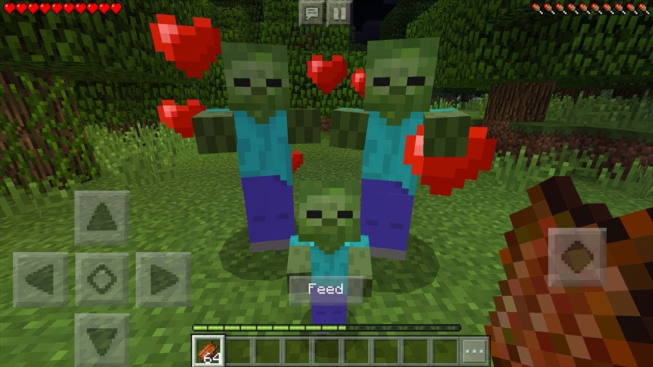 How To Breed Zombies in Minecraft Pocket Edition (Zombie Breeding Addon)
