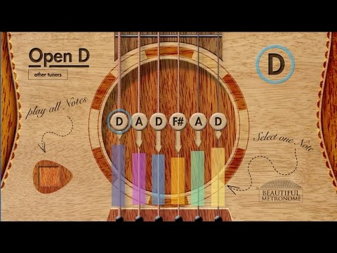 Open D (D A D F# A D) - The Best INTERACTIVE Online Guitar Tuner