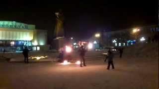 Fire show Rivne independent square