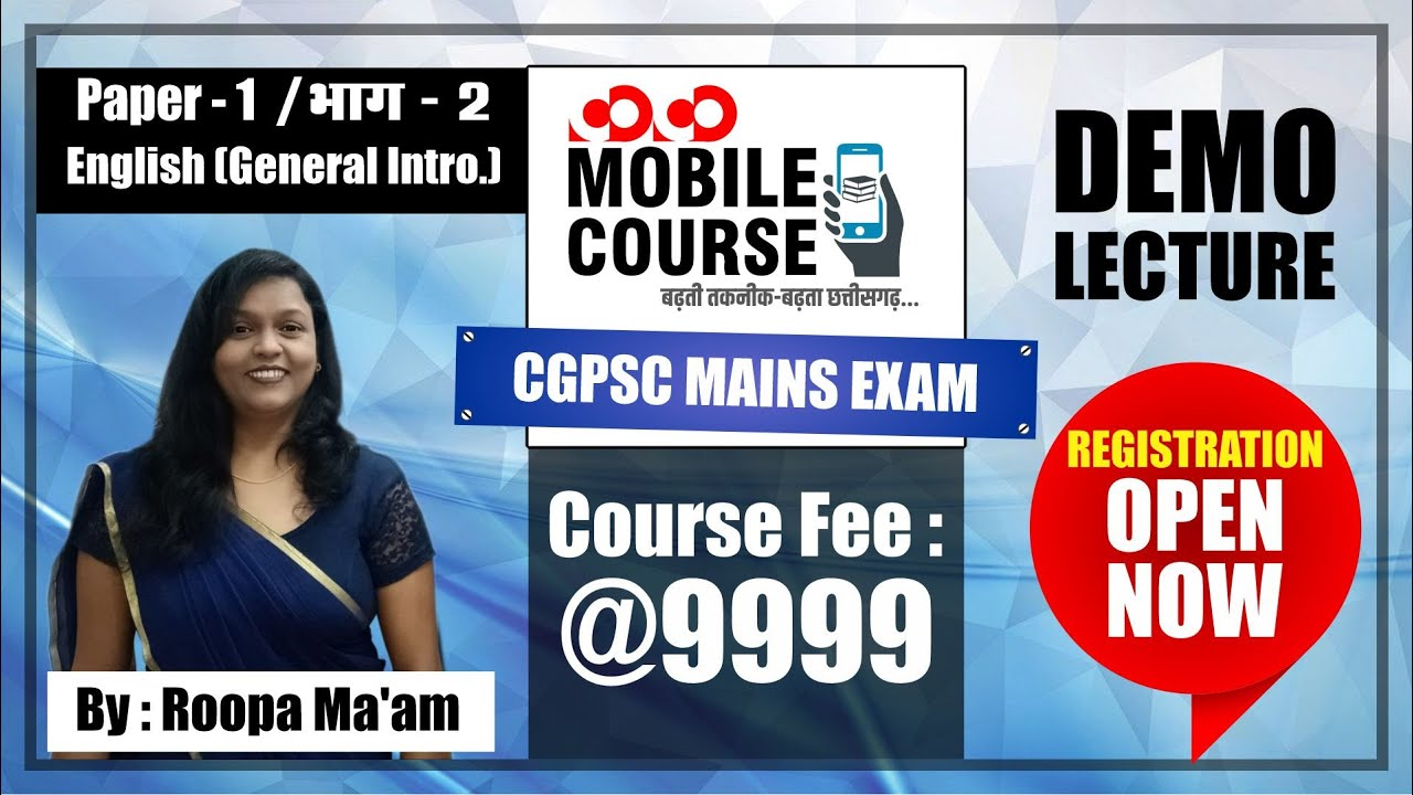 English Language II General Introduction II CGPSC MAINS DEMO LECTURE