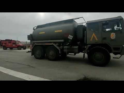La UME despliega en Segovia 74 militares y 36 vehículos ante la previsión de nevadas