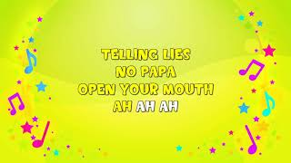 Johnny, Johnny, Yes Papa? | Karaoke | Eating Sugar | Nursery Rhyme |