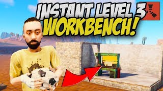 Amazing Solo Start! Instant Level 3 Workbench! - Rust Solo Survival Gameplay