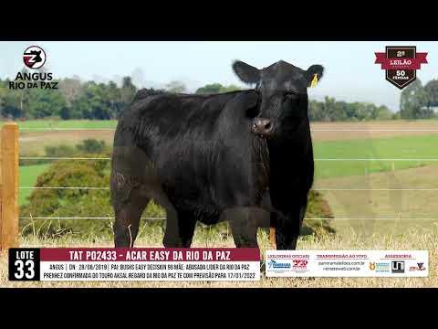 LOTE 33 2433 ACAR EASY DA RIO DA PAZ - Prod. Agência e TV El Campo