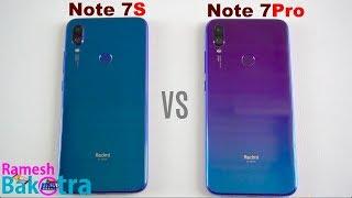 Redmi Note 7S vs Note 7 Pro SpeedTest and Camera Comparison