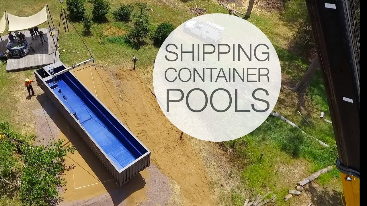 Shipping Container Pools - YouTube