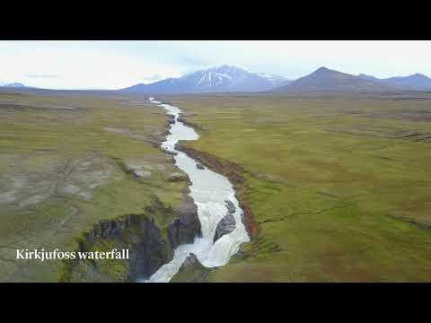 The hiking trail Waterfall Circle near Laugarfell, East Iceland
