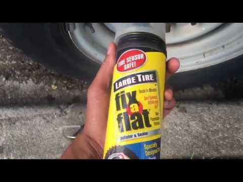 How To Use Fix A Flat In A Can