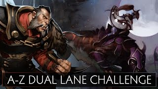 Dota 2 A-Z Dual Lane Challenge - Luna and Lycan