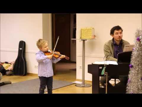 Tadeus Greger, 5 Jahre alt, Violine, Paganini, Schülervorspiel Musik  und Kunstschule Westend