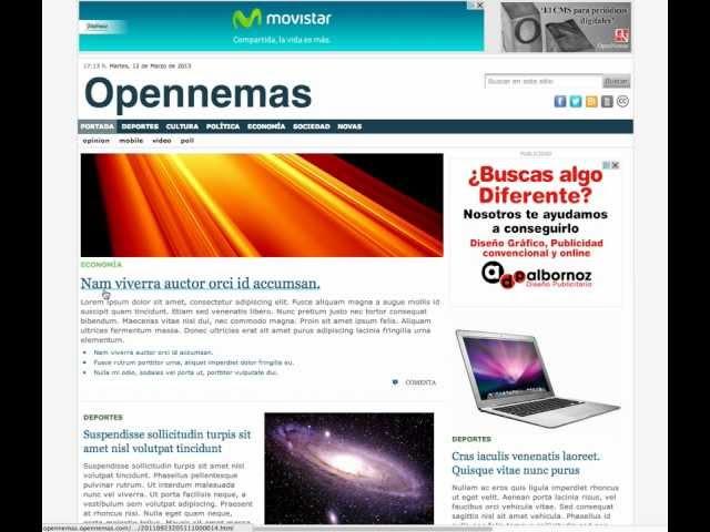 Opennemas - Como crear portadas
