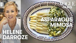 Chef Hélène Darroze cooks her white asparagus mimosa recipe  Vogue Kitchen  Vogue Paris
