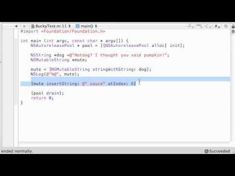 Objective C Programming Tutorial - 55 - Mutable Strings