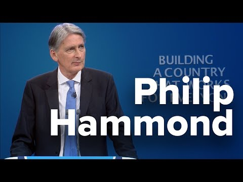 Philip Hammond: Speech to Conservative Party Conference 2017