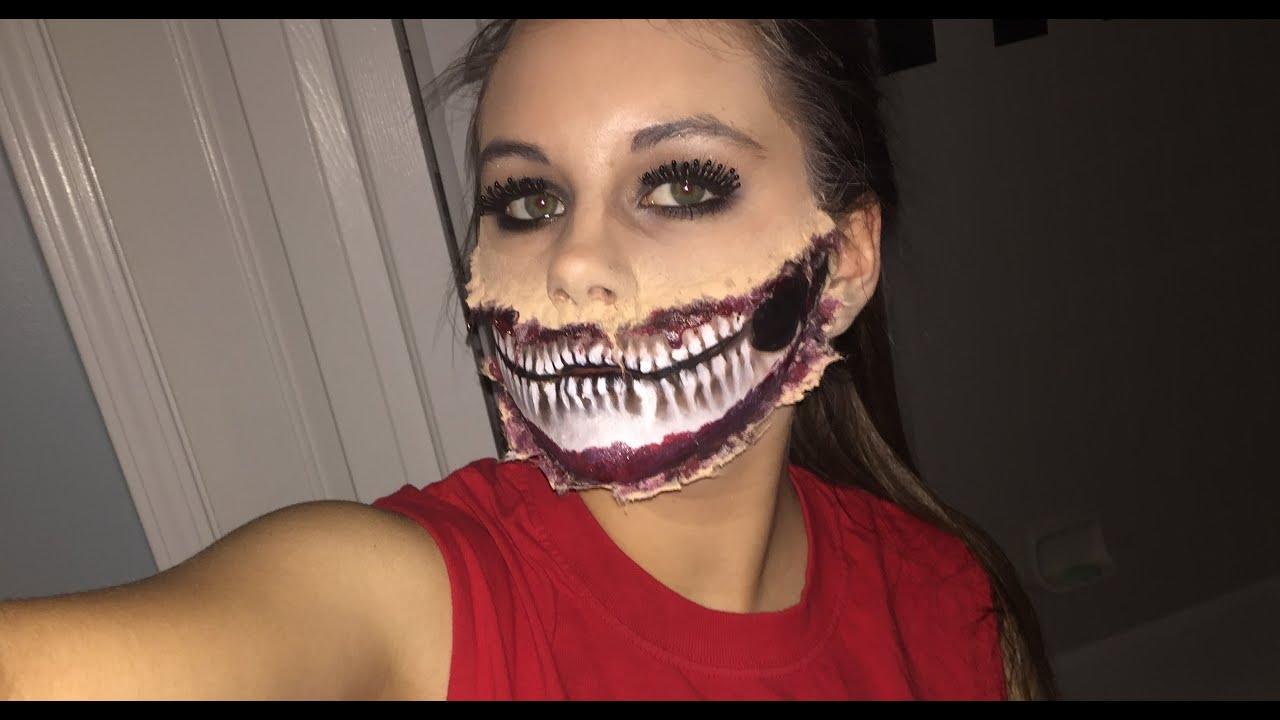EASY Half-Skull Makeup Tutorial