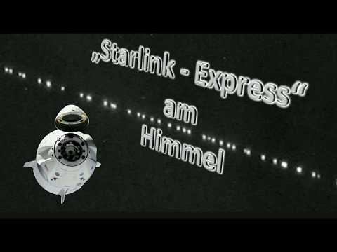 Starlink-Express am Himmel