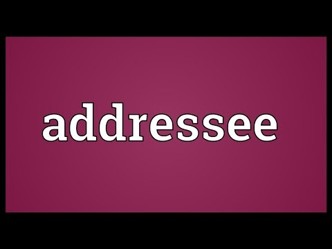 Addressee Meaning