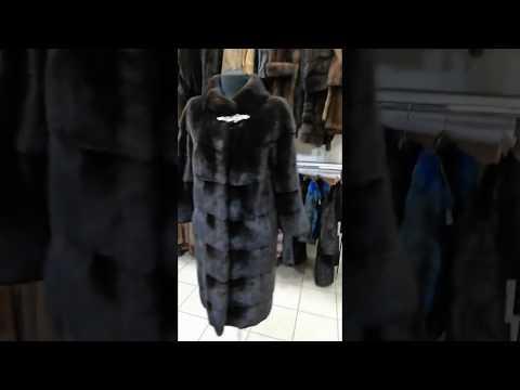 Шикарная норковая шуба с воротником шанель, BLACK VELVET