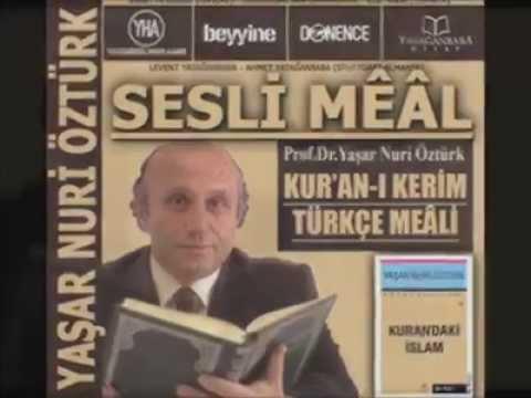 19-A'LA SURESİ (Yaşar Nuri Öztürk Sesli Meali)