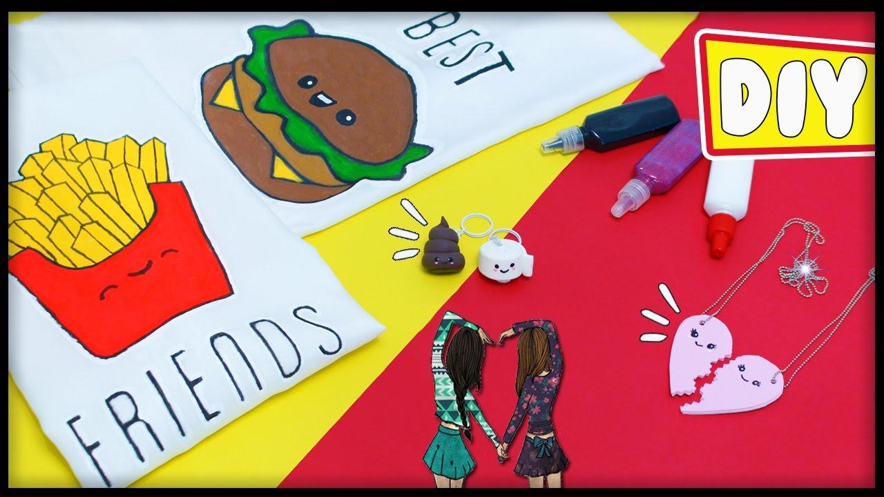 Colar Da Amizade Diferentes: DIY's MELHORES AMIGAS 😍👯Chaveiro Kawaii, Colar Da Amizade