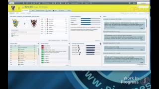 Football Manager 2012 gameplay video - adaptable layout