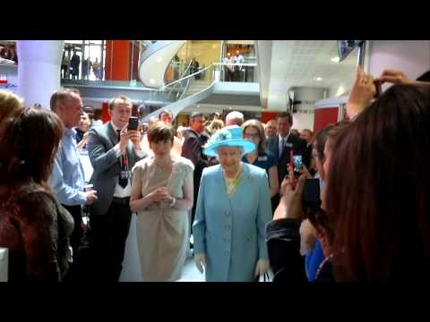 Her Majesty The Queen visiting the BBC Newsroom