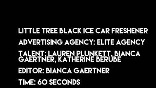 Little Tree Black Ice Car Freshener Commercial