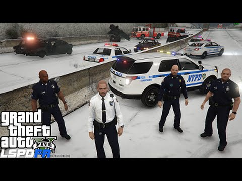 GTA 5 LSPDFR 0.3 Police Mod 92 | NYPD Captain Supervisor Patrol | Snow Day | Blizzard 2016