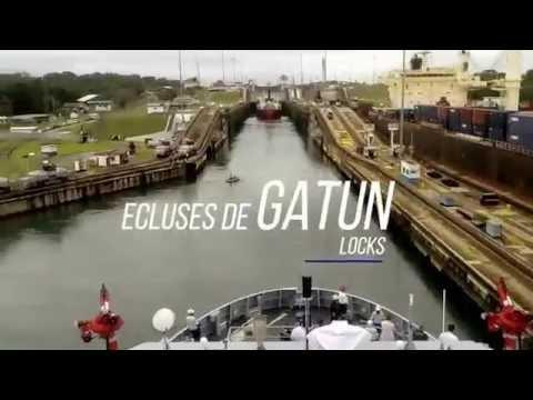 Le B2M D'Entrecasteaux franchit le canal de Panama