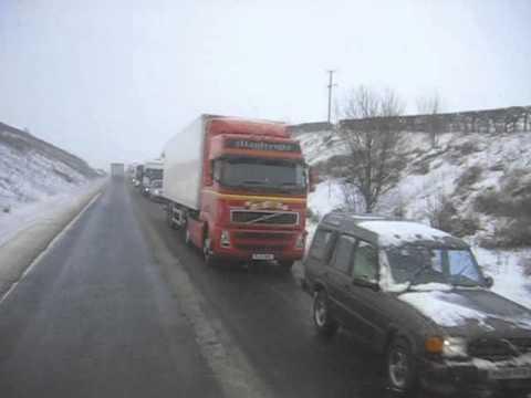 Irish trucks stuck in Scotland A75