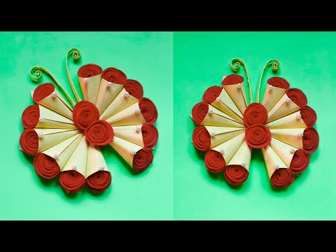 DIY PAPER BUTTERFLY WALL HANGING | WALL DECOR IDEA | MEMBUAT HIASAN DINDING DARI KERTAS