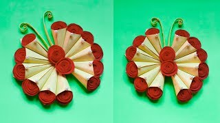 DIY PAPER BUTTERFLY WALL HANGING | WALL DECOR IDEA | MAKE A WALL PAPER ORNAMENT