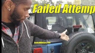 Jeep Wrangler License Plate Relocation Failed Attempt | Jeep Vlog