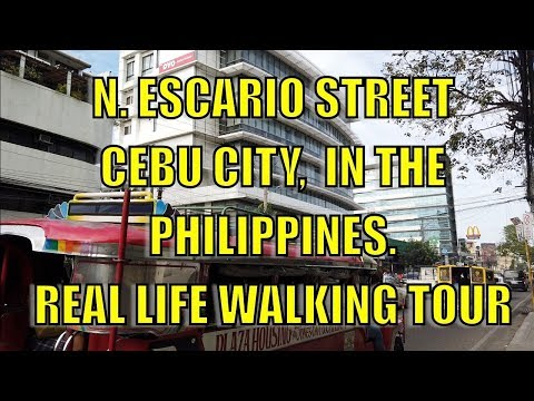 N. ESCARIO STREET, CEBU CITY, PHILIPPINES. REAL LIFE WALKING TOUR.