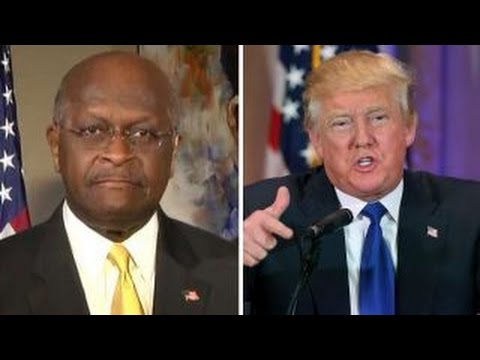 Herman Cain reacts to Donald Trump